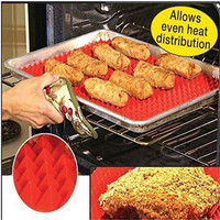 New Arrival Silicone Cooking Mat Kitchen Utensils Household Utensils New Pyramid Pan Fat Reducing Textured Non