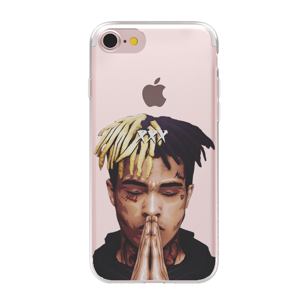 best loved 2ba0f 0a8d0 US $1.96 40% OFF|HryCase Matte Hard Plastic Xxxtentacion Case Cover For  Apple iPhone 8 7 X 6 Plus 5 5S SE XS Max XR Transparent Phone Cases-in  Fitted ...