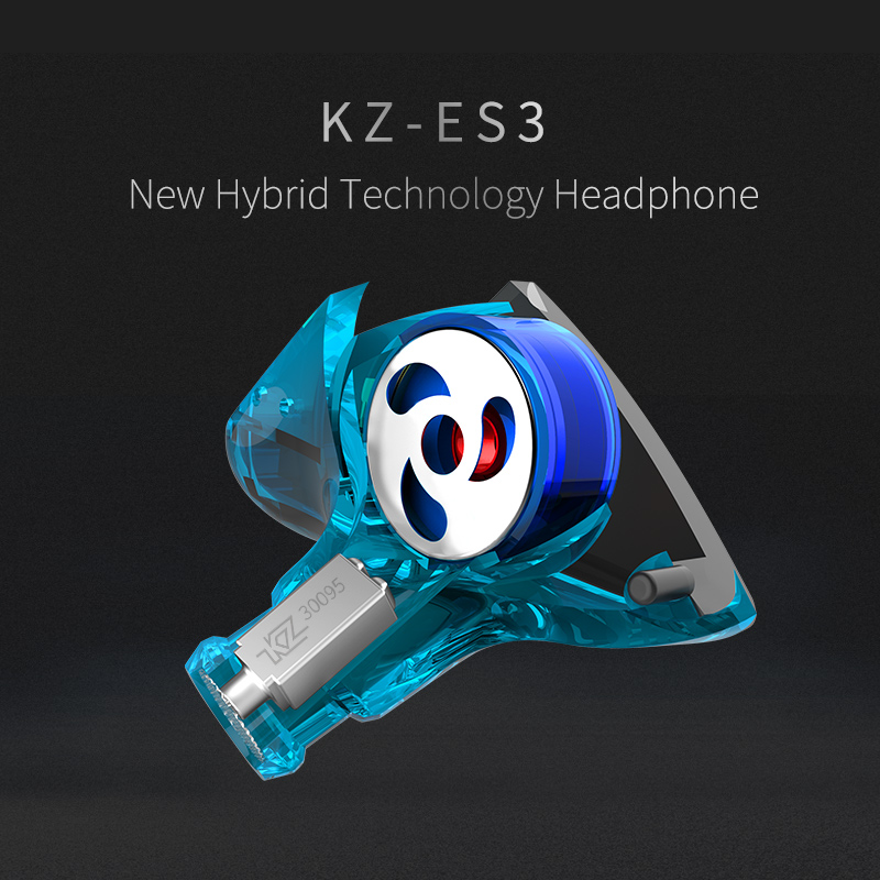 New KZ ES3 1DD+1BA Hybrid In Ear Earphone HIFI DJ Monito Running Sport Earphones Earplug Headset Earbud KZ ZST KZ ZS5 KZ ZS6 new hybrid in ear wireless earphone hifi dj monito running sport earphones bluetooth headphone earplug headset earbud