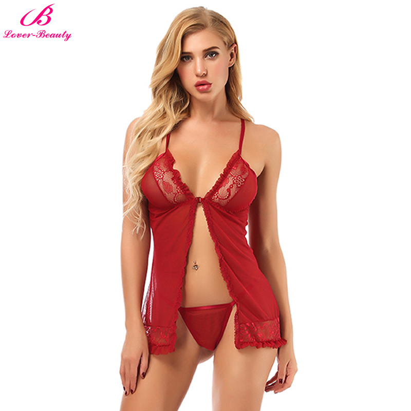 Lover Beauty Open Sexy Babydoll Lingerie Erotic Costume -7939
