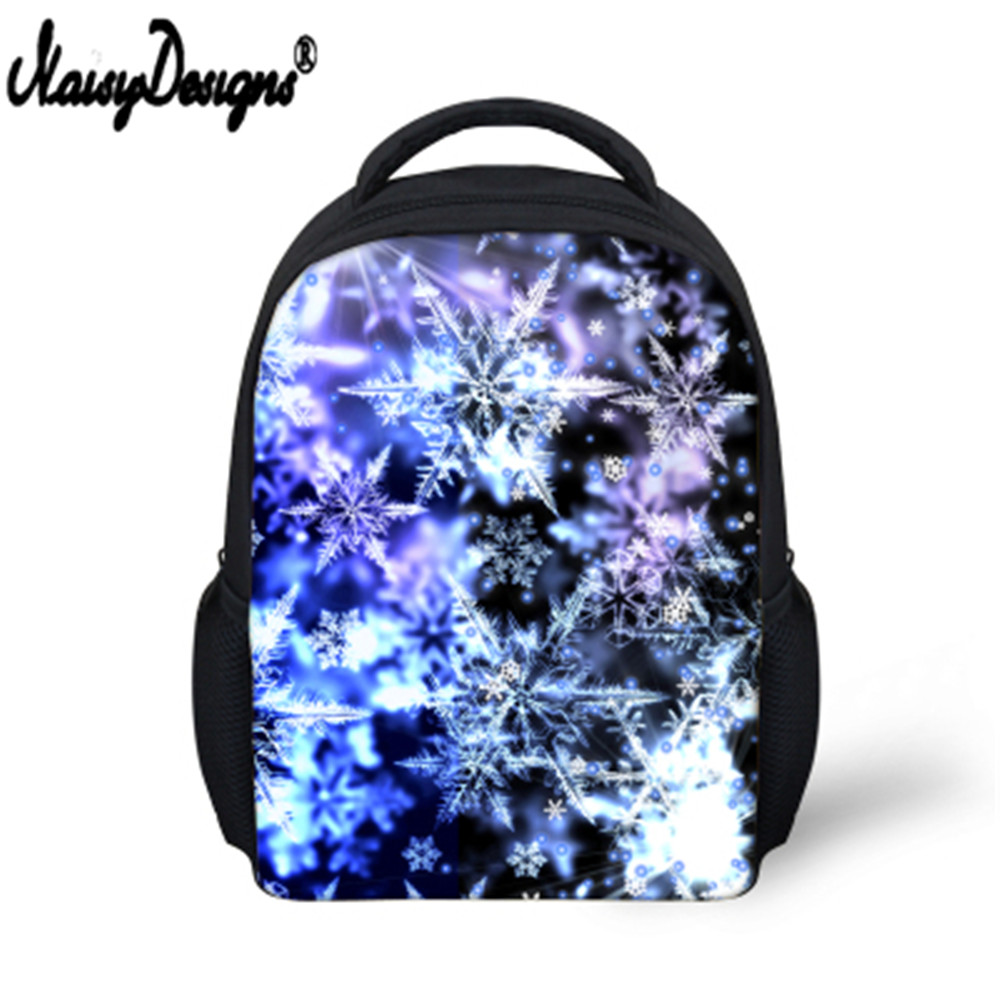 Unisex PU Leather Backpack Christmas Colorful Snowflakes Print Womens Casual Daypack Mens Travel Sports Bag Boys College Bookbag