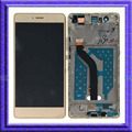 Gold LCD Display Touch Digitizer Glass Assembly + Frame For Huawei P9 Lite VNS-L21 L22 L23