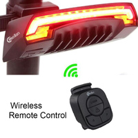 RU Meilan X5 Wireless Bike Bicycle Rear Light Laser Tail Lamp Smart Rechargeble Cycling Accessories Remote