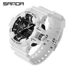SANDA Sport herren Uhren Top Luxus Military Quarzuhr Männer Wasserdichte S Shock Armbanduhren relogio masculino 780