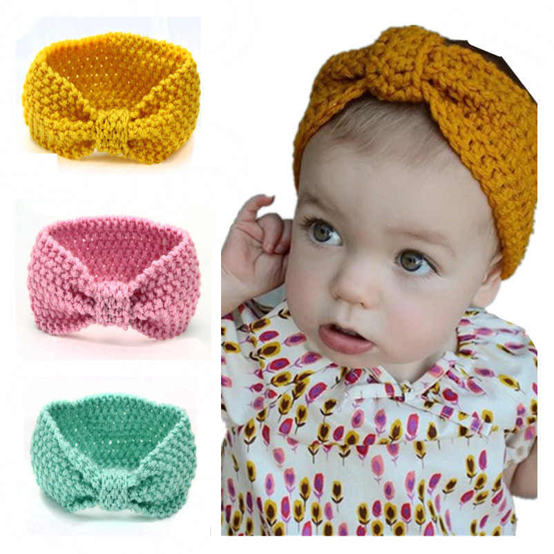 Baby Girls Cute Knit Cotton Stirnband Turban Neugeborene Elastic Hair Stirnband