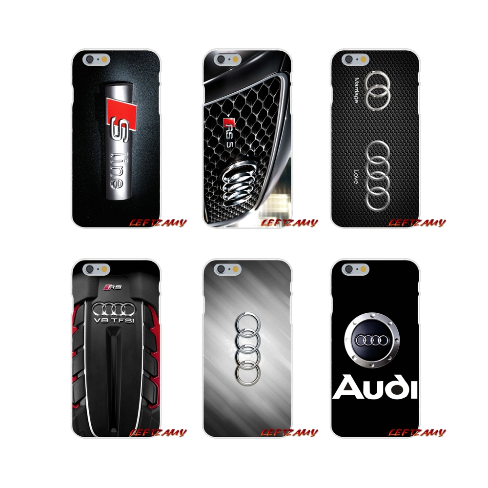 For iPhone X XR XS MAX 4 4S 5 5S 5C SE 6 6S 7 8 Plus Accessories Phone Shell Covers Audi Car Logo