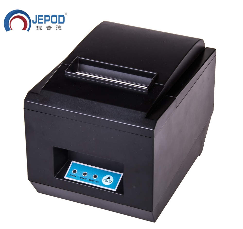 JP-8005 black USB Port 80mm thermal Receipt pirnter POS printer auto cutter thermal printer, printer thermal 80mm, 300mm/sec 300 mm s print speed black 80mm pos thermal receipt printer auto cutter cut windows2000 xp vista 8 10 linux usb ethernet
