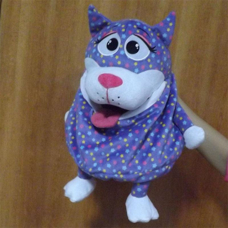 cb5d85bed4a9 Free Shipping 2018 Fashion Children Violet Dog Plush Backpack Child Cute  Animals Shape Kids Bag Plush Backpacks Birthday Gift