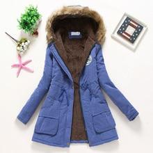 все цены на 2019 Women Overcoat Winter Warm Zipper Hooded Coat Pockets Long Slim Faux Fur Female Coat онлайн