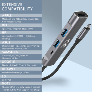Image 5 - Vmade Projeto Mini Tipo C 4 em 1 USB C HUB para HDMI Adaptador Mini para PC Computador samsung Galaxy S9 Tipo C USB C 3.1 Mini Converter