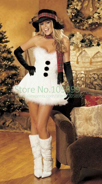 3fbcca4ef Muñeco de nieve Blanco Precioso Vestido de Adultos Traje de Navidad para  Las Mujeres