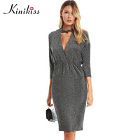 Kinikiss Women Bodycon Dress 2017 Summer Solid Batwing Sleeve Black Sexy Bodysuit New Party Dress Fashion