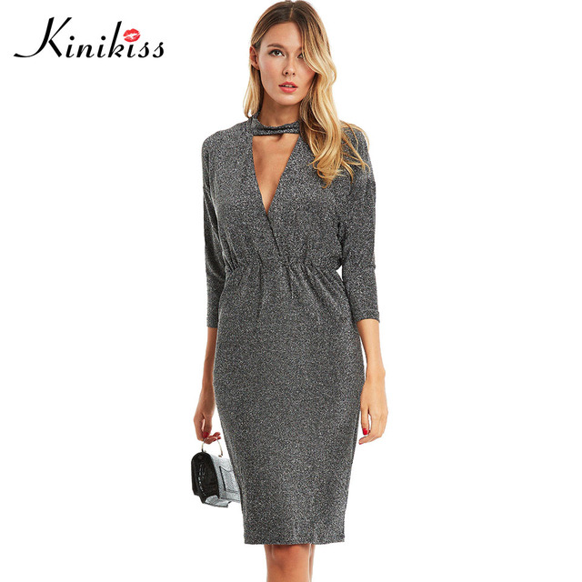 Kinikiss women bodycon dress 2017 summer solid batwing sleeve black sexy bodysuit new party dress fashion female bodycon dresses