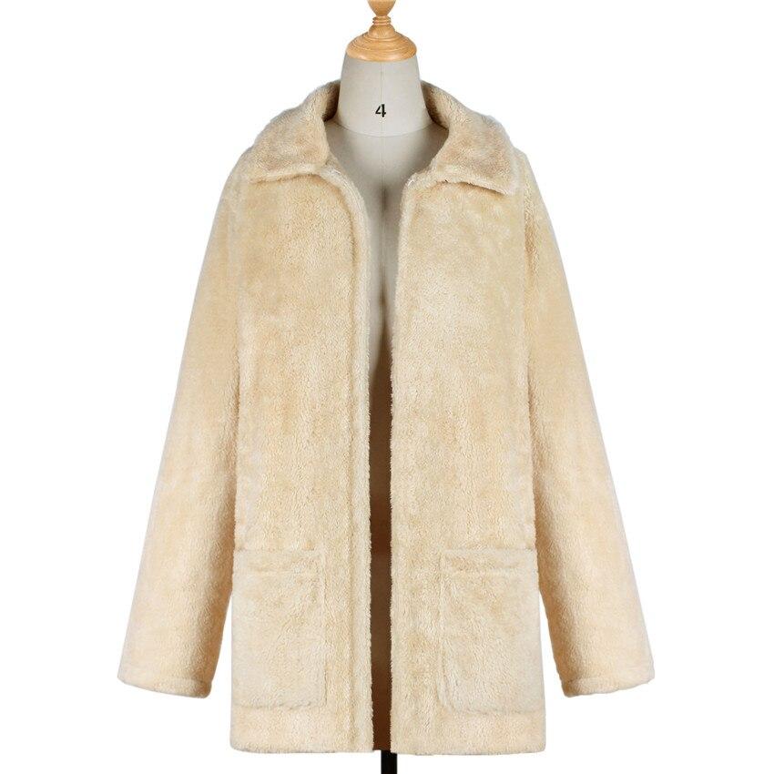 Style Femme Imitation Manteau Veste Hiver De Fourrure 2018 Lanshifei Fausse Mode Chaude Nouveau Parka qwxgYYEXC