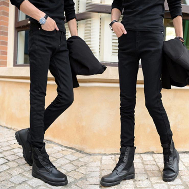 HOT 2019 Fashion Black Design Boys Men's Sweatpants Casual Long Jeans Homme Skinny Men Denim Teenagers Pencil Pants Jeans