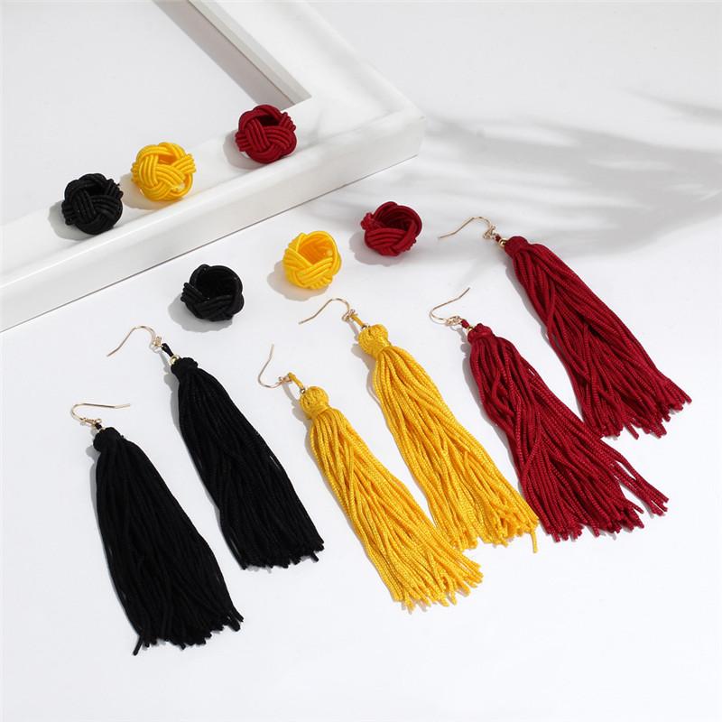 Soft Beautiful Tassel Long Dangle Earrings