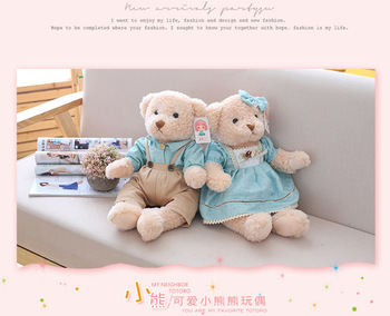 kawaii soft toy for children 65cm Stuffed Plush Toys 25inch Simulation Animal Couple bears Dolls for girls valentines day gift