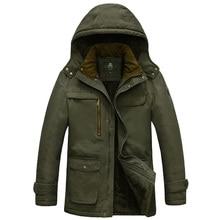 Плюс размер М-5XL Бренд Зимняя куртка мужчины AFS JEEP куртка мужчины толщиной теплый флис куртка пальто военные куртки хлопка-мягкий мужской пальто