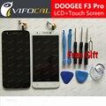 Doogee f3 pro display lcd + touch screen + ferramentas fhd 100% original substituição digitador assembléia para doogee f3 pro telefone móvel
