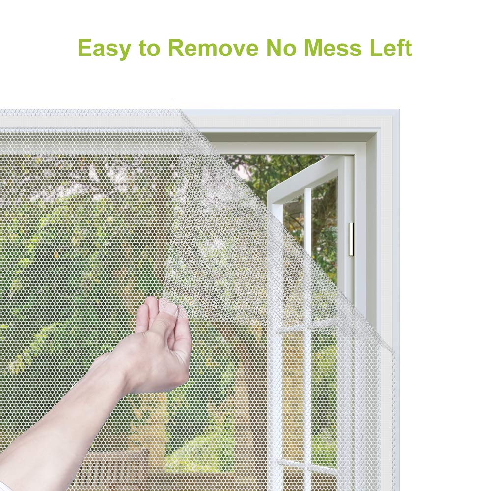 Image 2 - Fly Mosquito 4 Packs Summer Window Net Mesh Screen Room Cortinas Mosquito Curtains Net Curtain Protector Fly Screen Insets-in Window Screens from Home & Garden