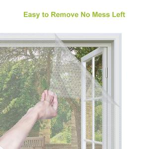 Image 2 - Fly Mosquito 4 Packs Summer Window Net Mesh Screen Room Cortinas Mosquito Curtains Net Curtain Protector Fly Screen Insets