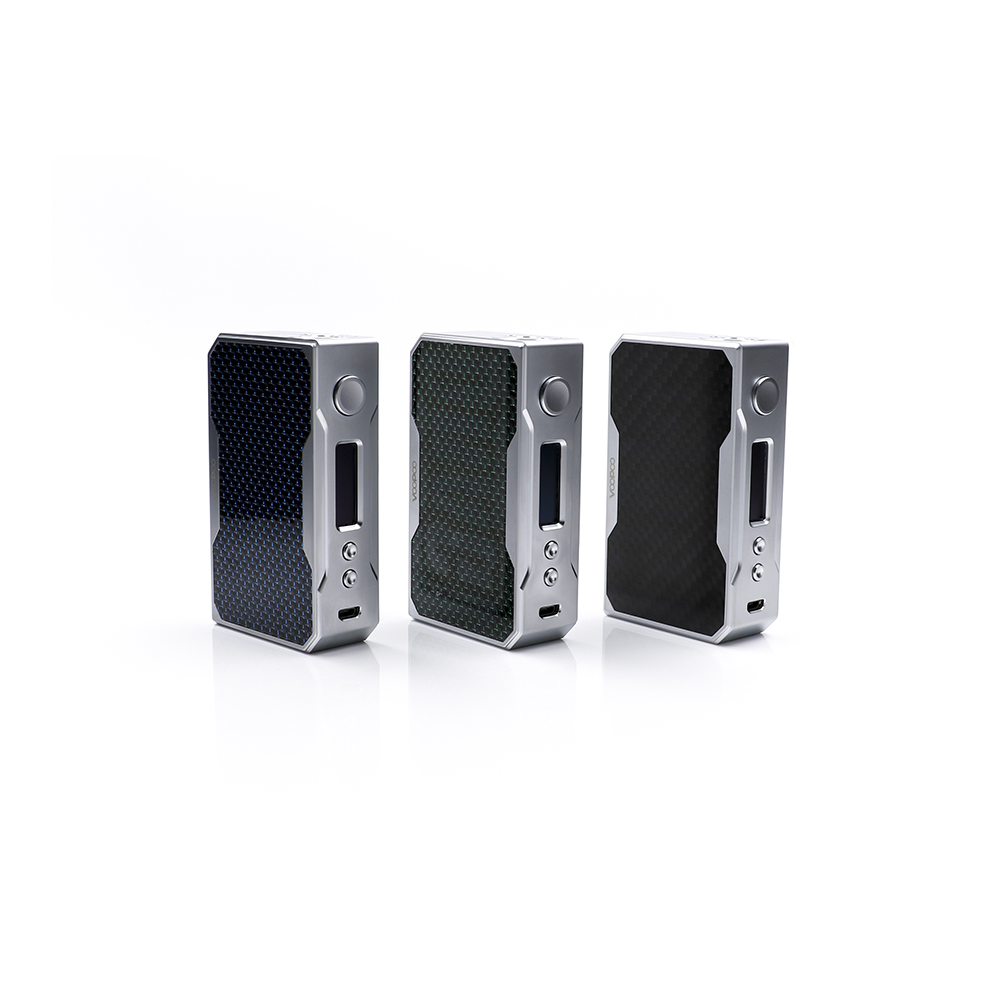 цена Newest Original VOOPOO DRAG 157W TC Box MOD carbon fiber 157w box mod Vape with US GENE chip Temperature Control Resin Box mod