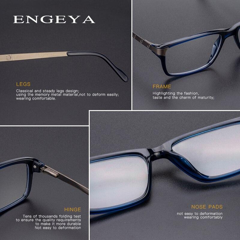 Image 5 - Men Glasses Clear Fashion Brand Designer Optical Eyeglasses Frame Transparent Glasses Men High Quality Prescription Eyewear #134-in Men's Eyewear Frames from Apparel Accessories