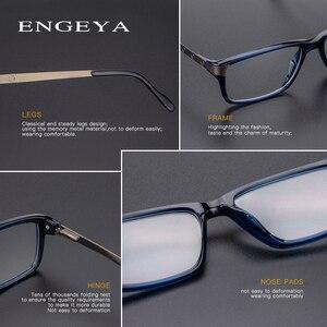 Image 5 - Men Glasses Clear Fashion Brand Designer Optical Eyeglasses Frame Transparent Glasses Men High Quality Prescription Eyewear #134