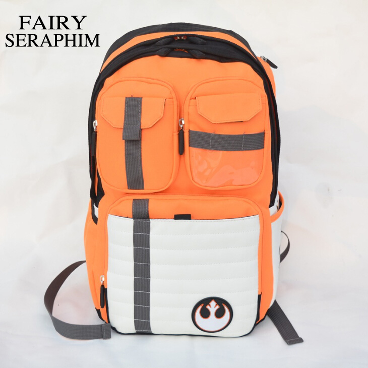 цена на FAIRY SERAPHIM Star Wars Backpack Rebels Logo Alliance Icon Polyester Teenager School Bag Wholesale Boys Schoolbag