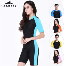 SBART Women Men Wetsuits Surfing One Piece Swimming Snorkeling Diving Wet Suit short Sleeve