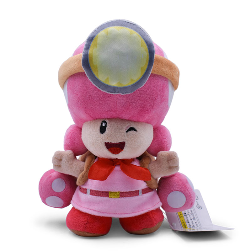 Anime Super Mario Bros Toadette <font><b>Peluche</b></font> Backpack Treasure Tracker Doll Plush Soft Stuffed Baby Toy Christmas Gift image