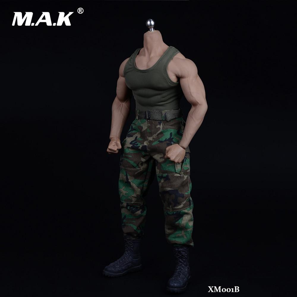 1/6 Scale Man Clothes Set Vests & Pants Suit Set & Shoes Clothing Accessories For 12 PH M34 Muscles Body Model