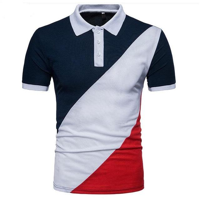 de589e928c0 Polo Shirt Men 2019 New Summer Fashion European Style Patchwork Short  Sleeve Polo Brand Clothing Tops Tees Camisa Polo Homme