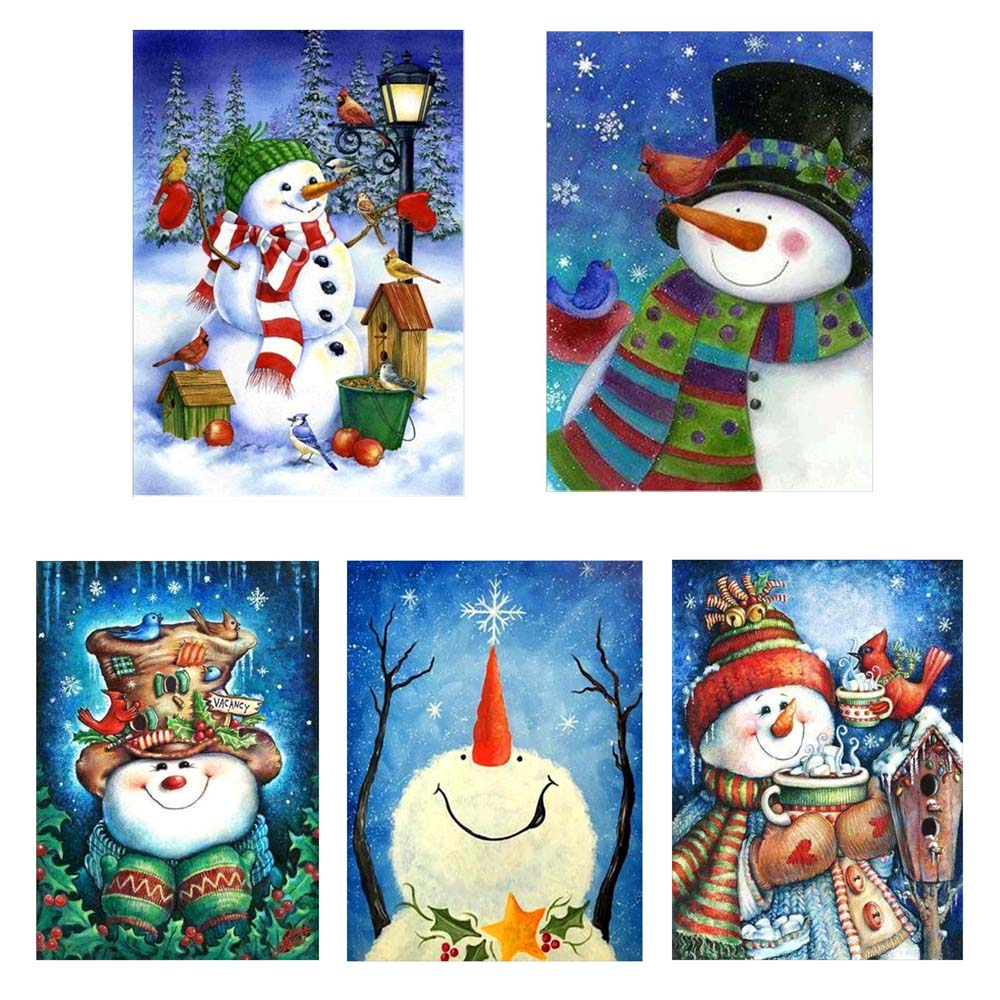 Xmas Snowman 5D DIY Full Diamond Painting Embroidery Cross Stitch Kit Home Decor Navidad Christmas Decorations