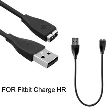 DHL Free 1000pcs/lot wholesale USB Charger Charging Cable For Fitbit Charge HR Smart Wristband Black good quality