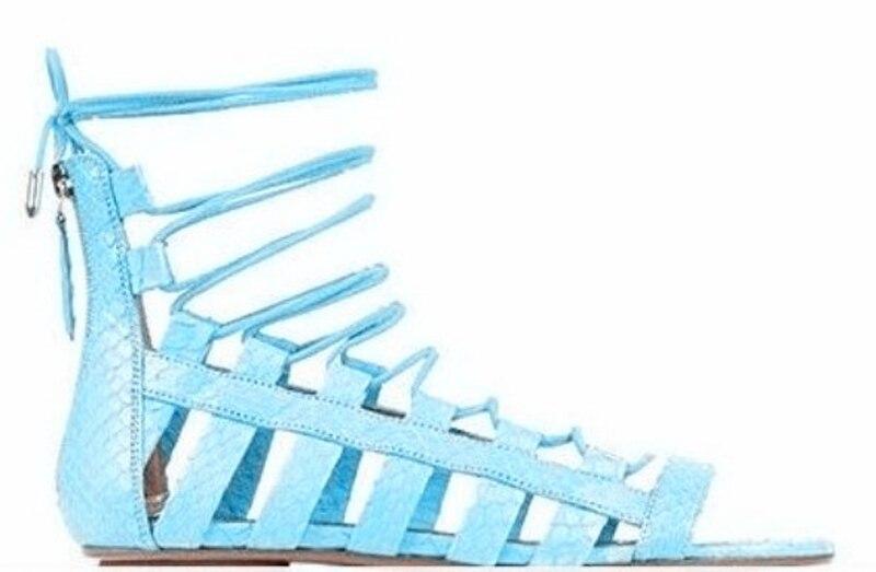 Новинка 2017 года; сандалии гладиаторы на плоской подошве; Mujer; женская летняя удобная женская обувь; обувь для свиданий со шнуровкой - 4