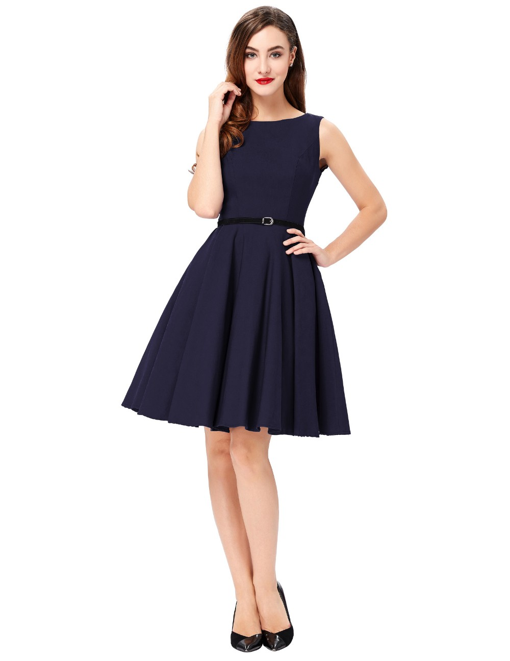 a3997b5d585 2018 Ladies 50s Rockabilly Retro Swing pinup Cocktail dress Womens Summer  Style robe Vintage plus size Party Dresses Vestidos