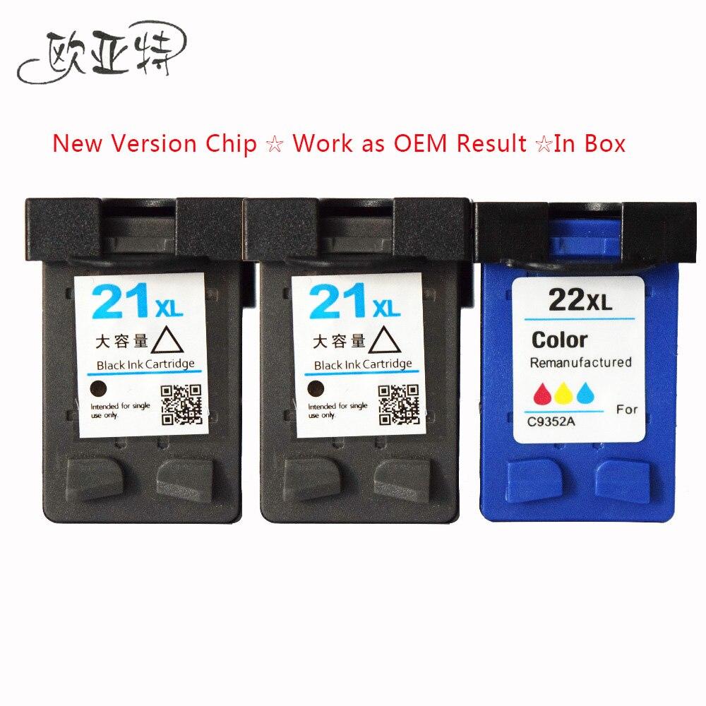 3x  HP 21 22 XL Ink Cartridges Compatible For HP Deskjet 3915 3920 D1530 D1320 D1311 D1455 F2100 F2280 F4100 F4180 printer ink