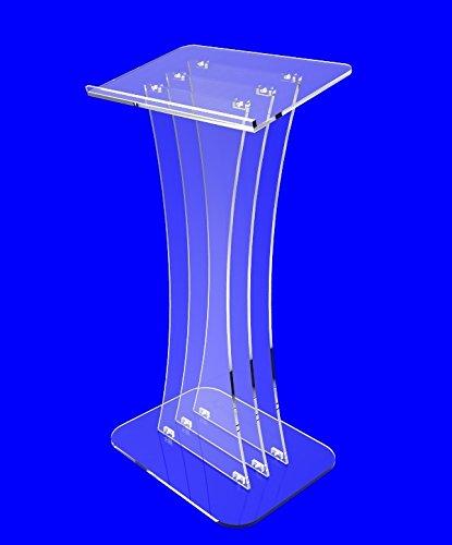 Fixture Displays Clear Acrylic Lucite Podium Pulpit Lectern Custom Logo Plexiglass