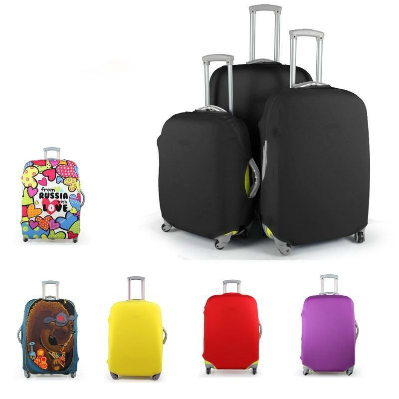 Travel Trunk Suitcase Dust Luggage Covers Trolley case Elastic Cover Apply to 18-30inch Protect Dust Bag Travel Accessories цена