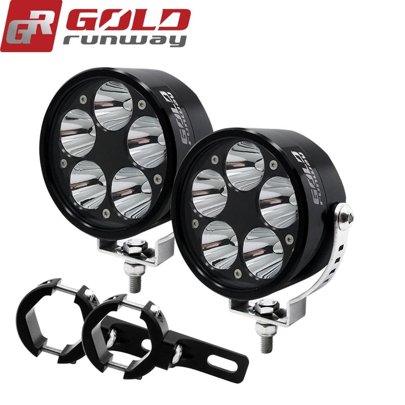 2 pcs 12 v 50 w U3 Fog Driving Head Light LED cicleta Do Ponto Do Farol moto Farol moto para moto moto rcycle rbike com barra de fixação