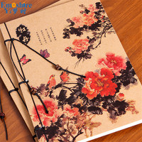 Brand Red Peony Notebook Notepad Chinese Classical Culture Content Cover Noteboo Notebooks Memo Pad Notepad School Writing N206