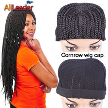 5Pcs/Lot Wholesale Price Wig Caps For Making Wigs Box Braided Cornrow Wig Caps With Combs Top Easier Sew In Braided Wig Caps(China)