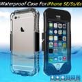 Para apple iphone se case cajas del teléfono a prueba de agua ip68 a prueba de polvo/polvo/a prueba de nieve para el iphone se 5s 6 s para samsung galaxy s7 edge cubierta