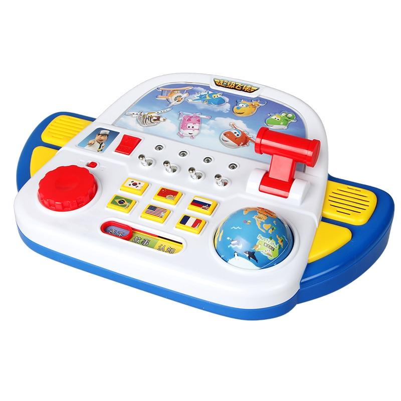 2017 ABS Super vleugels Control Centre met Vliegtuigen Actiefiguren Transformatie Speelgoed kinderen Kerstcadeaus-in Actie- & Speelgoedfiguren van Speelgoed & Hobbies op  Groep 1