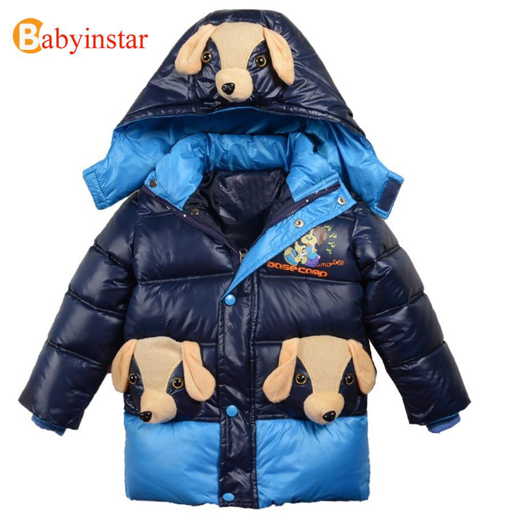 2017 Kid's Boys Clothing Children Down Coat Jacket Cotton Clothes Outerwear & Coats Winter Jackets For Boys New Animal Coat boys fleece jackets solid coat kid clothes winter coats 2017 fashion children clothing