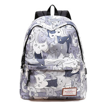 Backpack for Teenage Girls Children Waterproof Schoolbag 2019 Brand Back Pack Printed Style for Student Sac A Dos Female Bagpack fashion genuine leather backpack women 2019 sac a dos schoolbag for teenage girls waterproof bag travel purse female brand