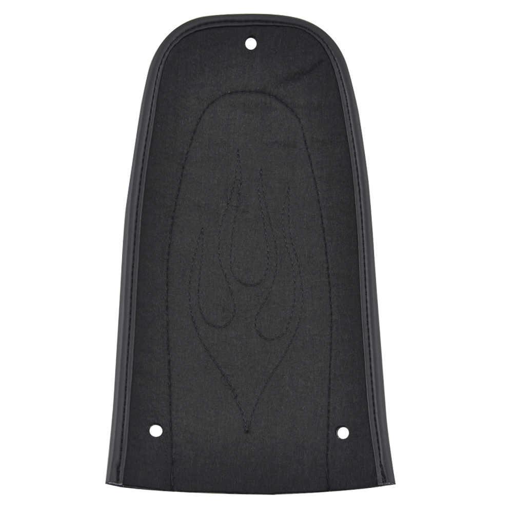 Motorrad Black Rear Fender Bib Skin Flame Stitch Pad Fit für Harley Touring