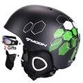 Moon capacete de esqui ce certificação de segurança esqui capacete integralmente-moldado ski snowboard skate capacete tamanho 52-64 cm