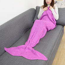 CAMMITEVER Mermaid Tail Blanket Crochet For Adult Super Soft All Seasons Sleeping Blankets